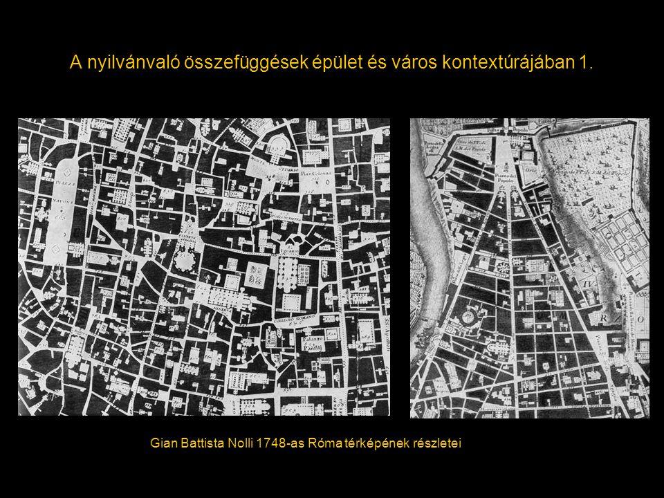 A nyilvánvaló összefüggések épület és város kontextúrájában 1.