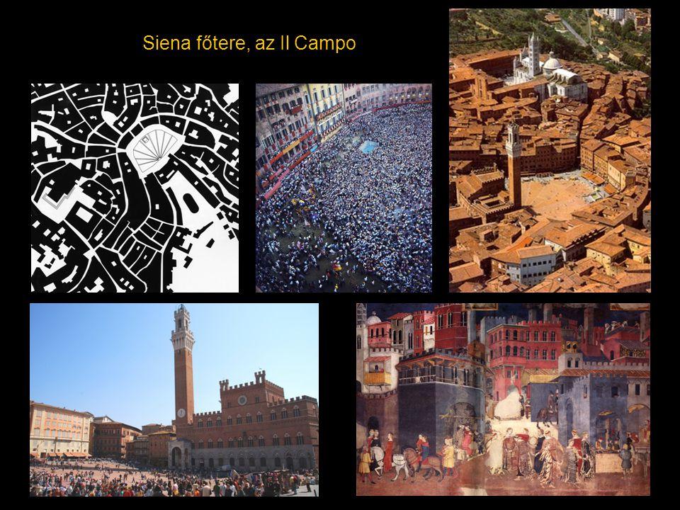 Siena főtere, az Il Campo