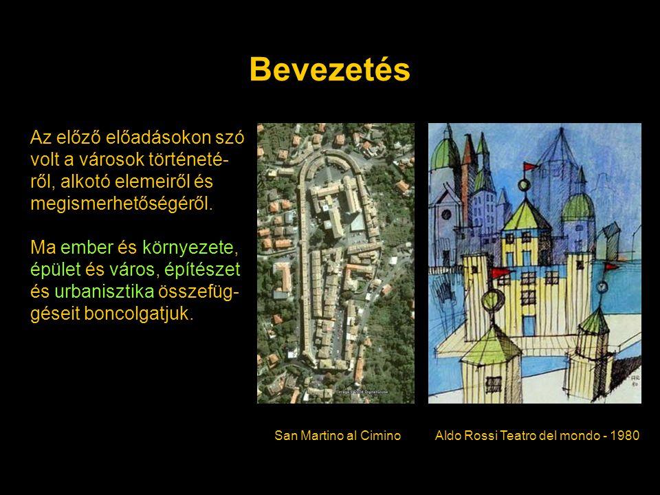 Bevezetés Az előző előadásokon szó volt a városok történeté-ről, alkotó elemeiről és megismerhetőségéről.