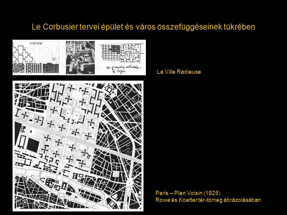 Le Corbusier tervei épület és város összefüggéseinek tükrében