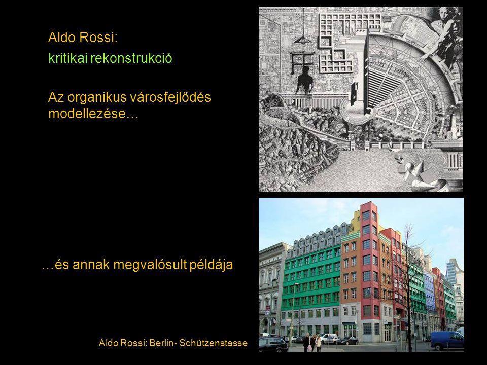 Aldo Rossi: kritikai rekonstrukció