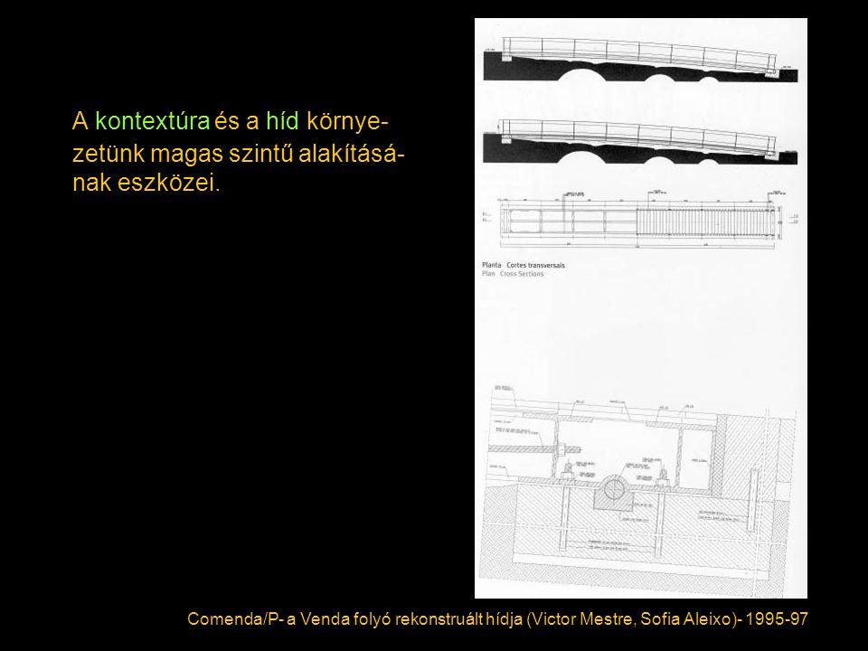 A kontextúra és a híd környe-zetünk magas szintű alakításá-nak eszközei.