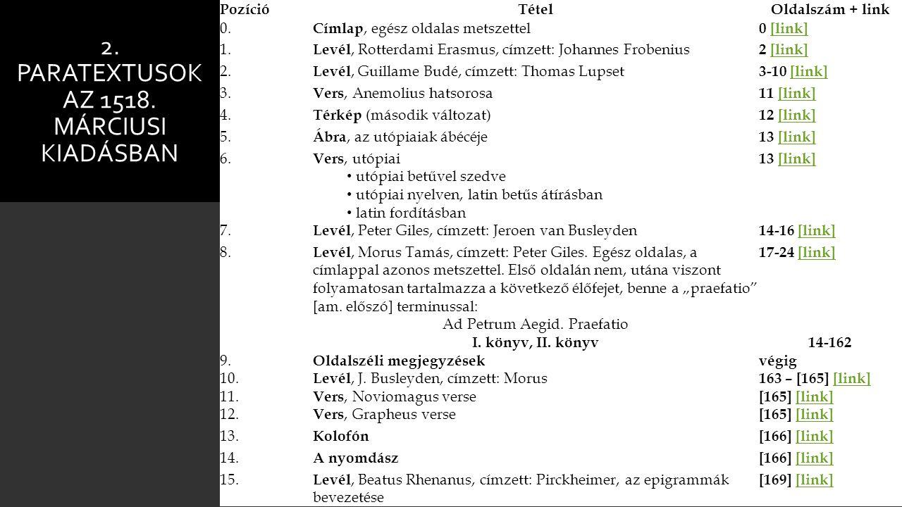 2. Paratextusok az 1518. márciusi kiadásban