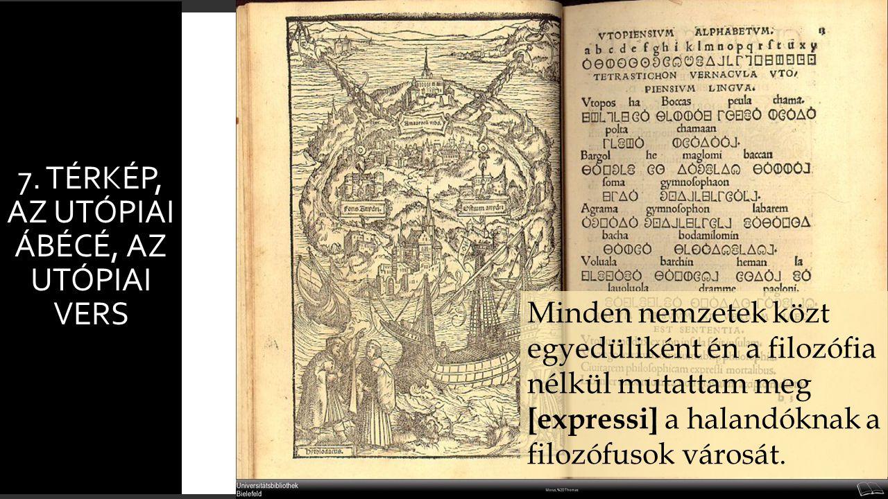 7. Térkép, Az Utópiai ábécé, Az utópiai vers