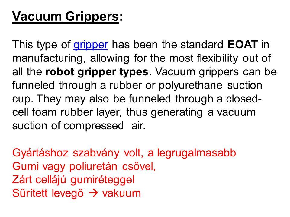 Vacuum Grippers: