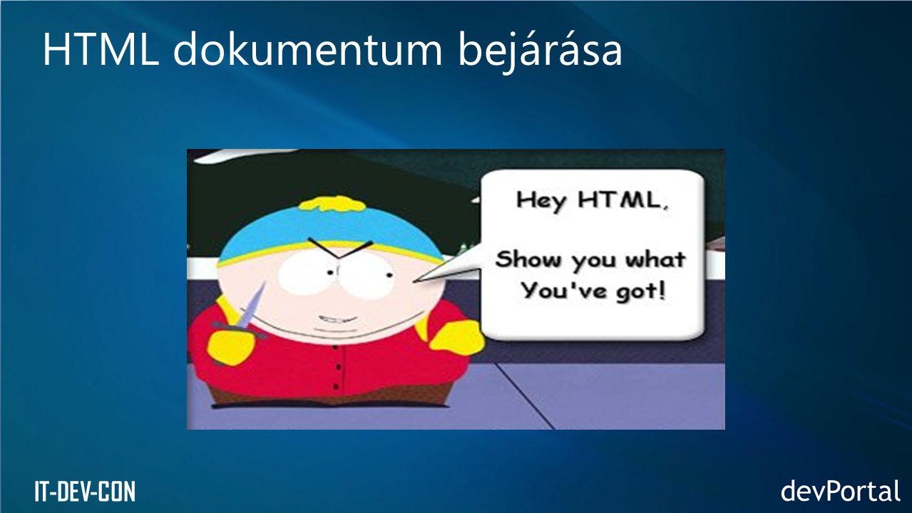 HTML dokumentum bejárása