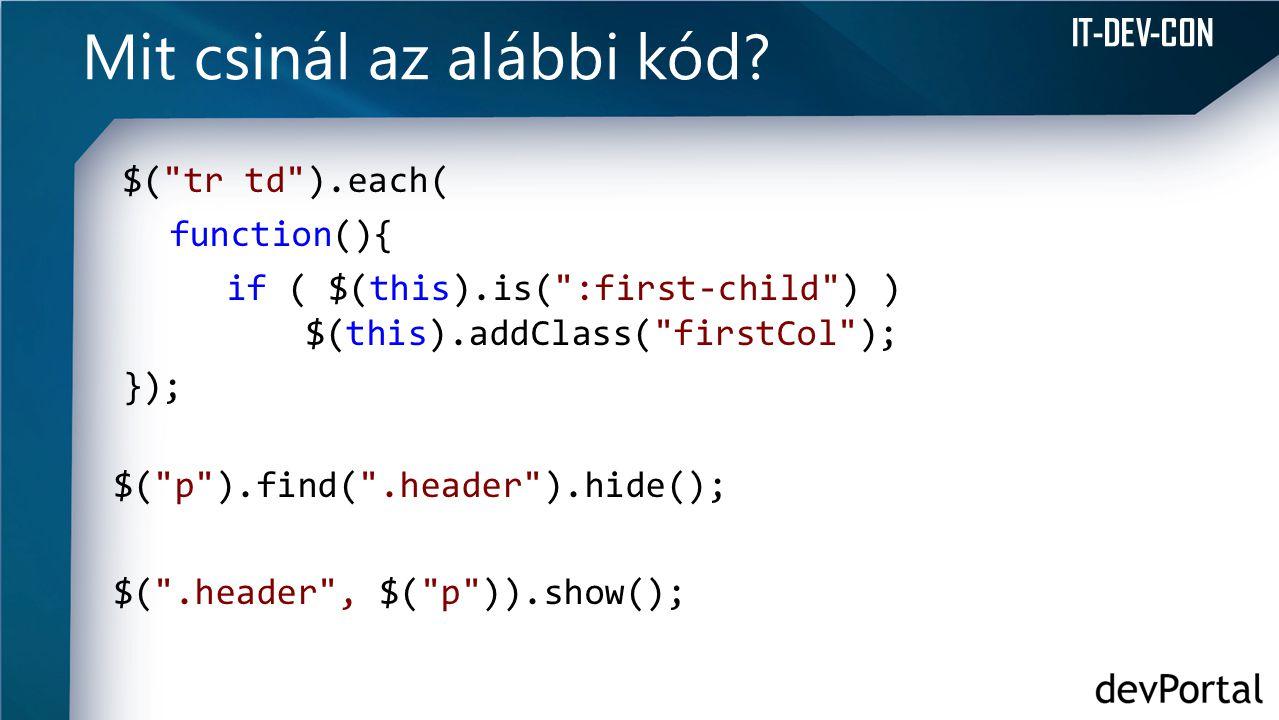 Mit csinál az alábbi kód