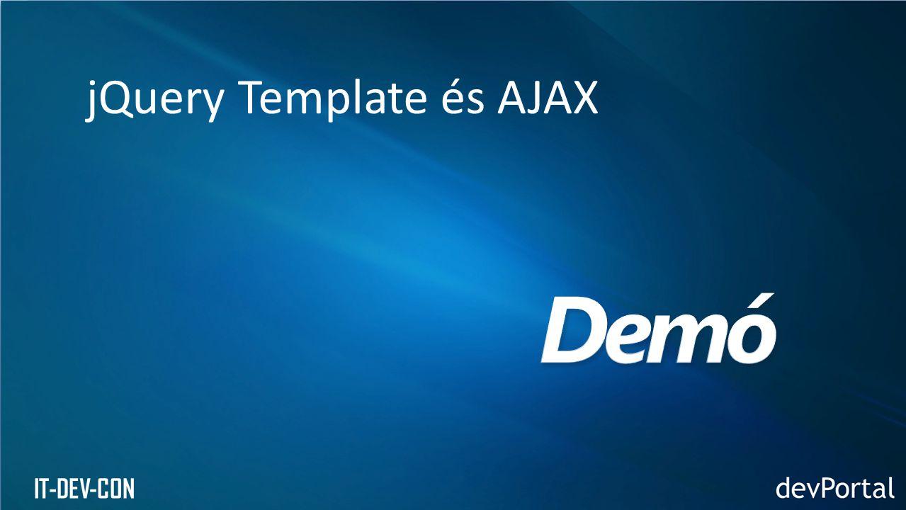 jQuery Template és AJAX