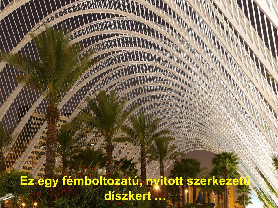 Ez egy fémboltozatú, nyitott szerkezetű díszkert …