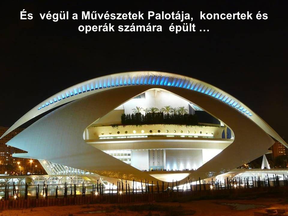 És végül a Művészetek Palotája, koncertek és operák számára épült …