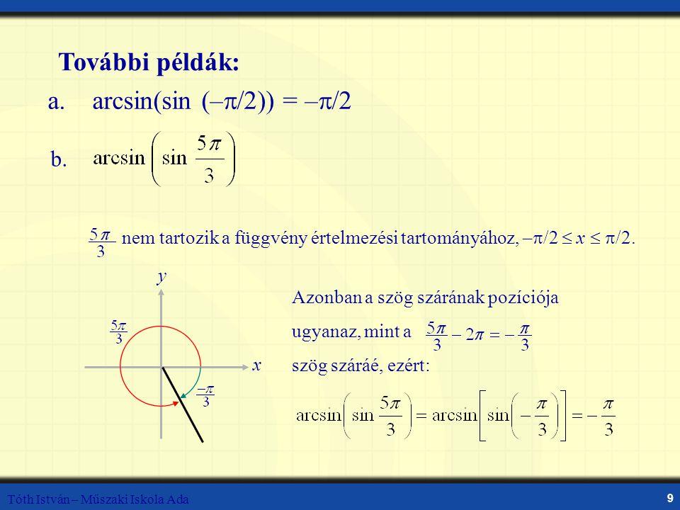 a. arcsin(sin (–/2)) = –/2