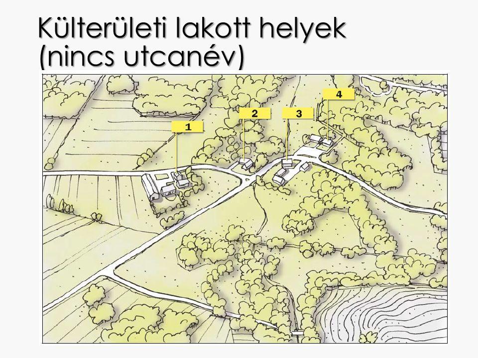 Külterületi lakott helyek (nincs utcanév)