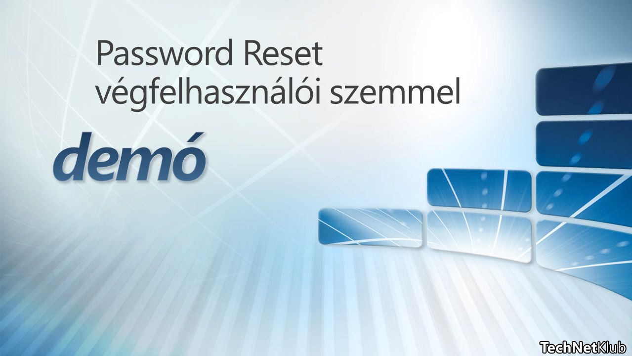 Password Reset végfelhasználói szemmel