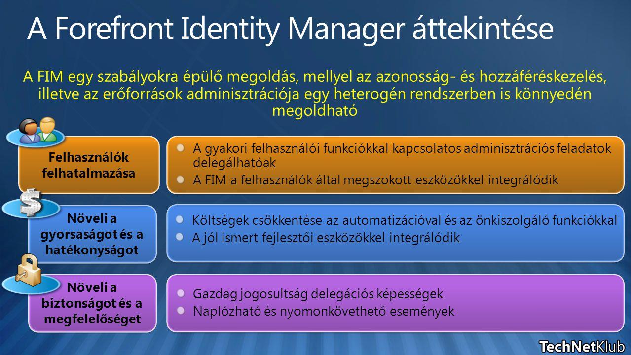 A Forefront Identity Manager áttekintése