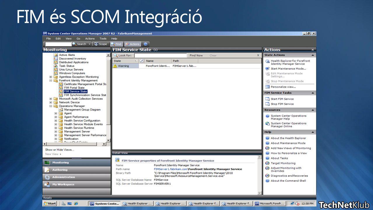FIM és SCOM Integráció