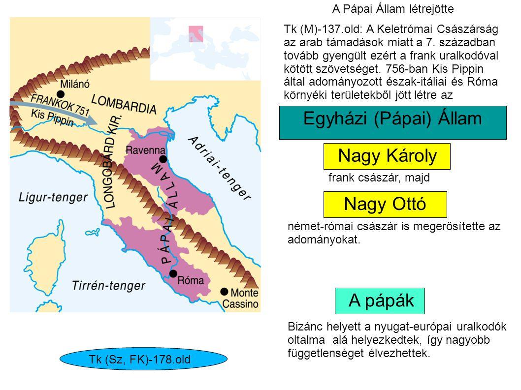 Egyházi (Pápai) Állam Nagy Károly Nagy Ottó A pápák