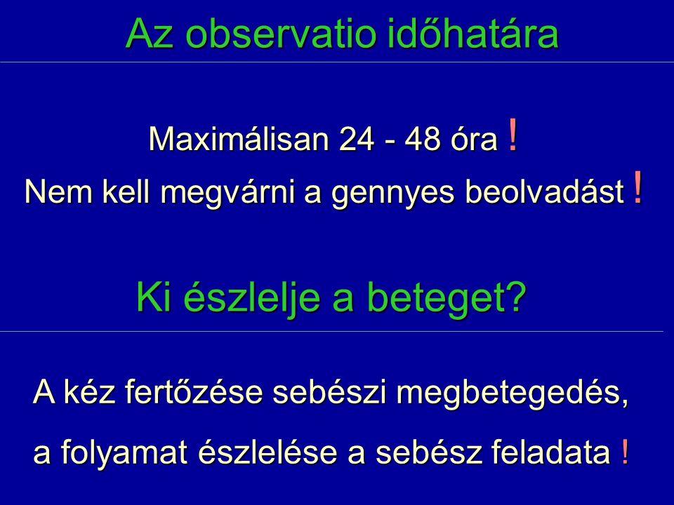 Az observatio időhatára