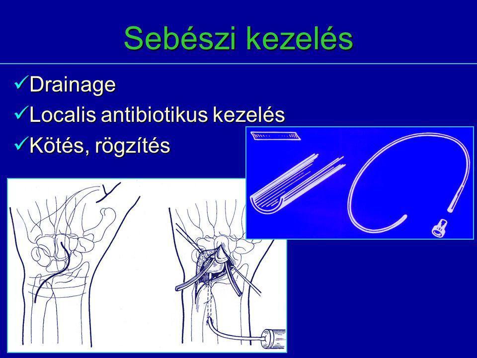 Sebészi kezelés Drainage Localis antibiotikus kezelés Kötés, rögzítés