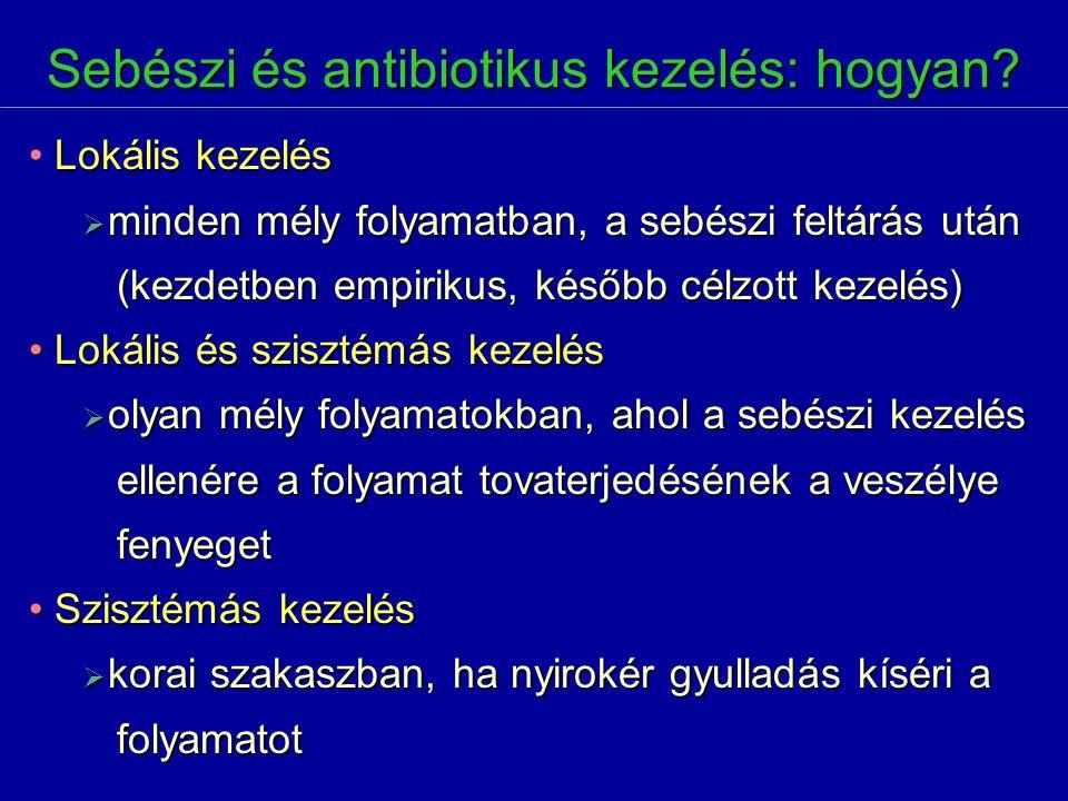 Sebészi és antibiotikus kezelés: hogyan