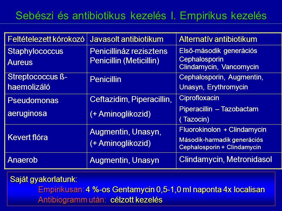 Sebészi és antibiotikus kezelés I. Empirikus kezelés