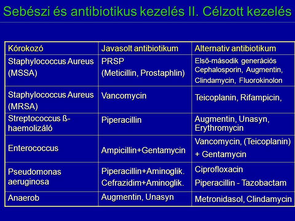 Sebészi és antibiotikus kezelés II. Célzott kezelés
