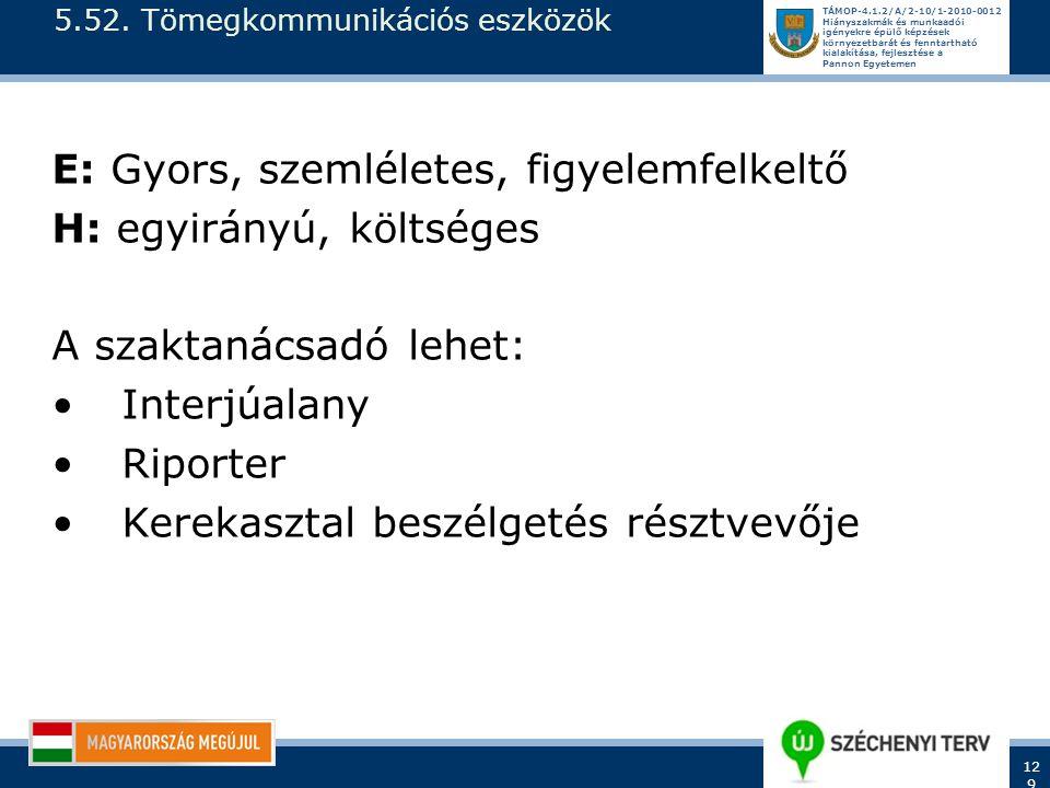 5.52. Tömegkommunikációs eszközök