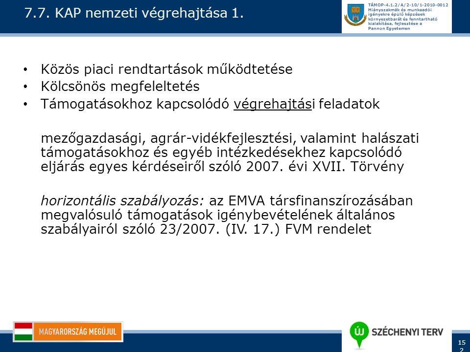 7.7. KAP nemzeti végrehajtása 1.