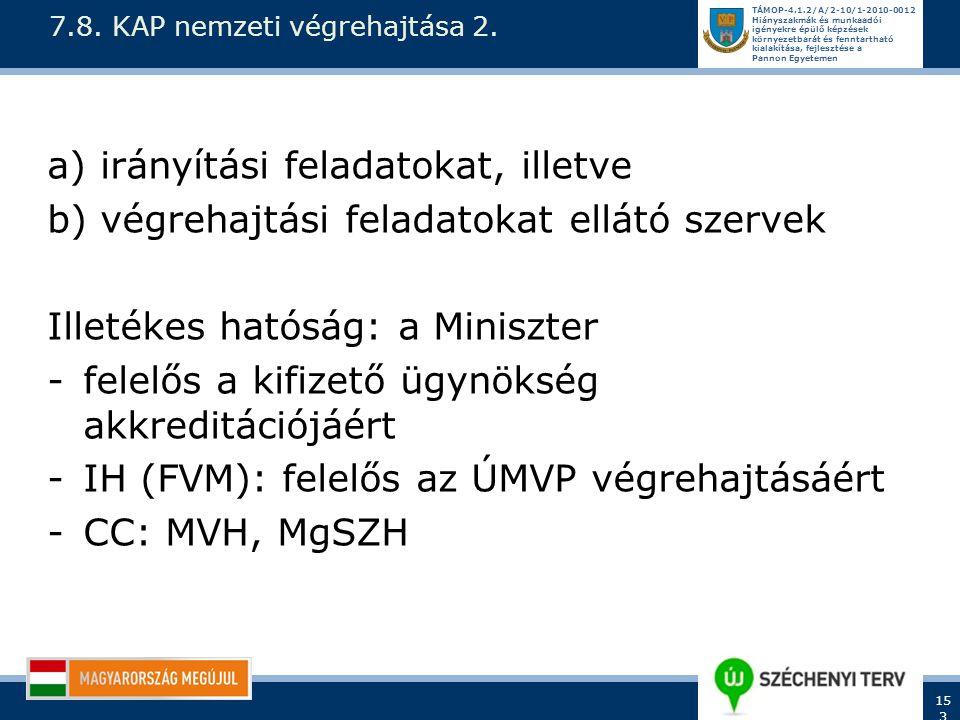 7.8. KAP nemzeti végrehajtása 2.