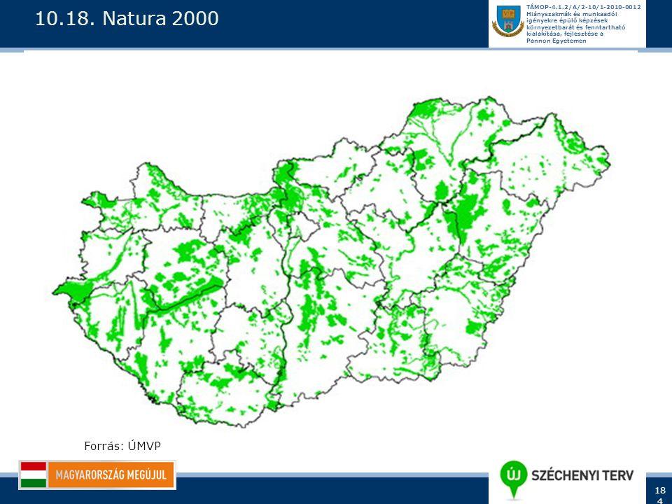10.18. Natura 2000 Forrás: ÚMVP