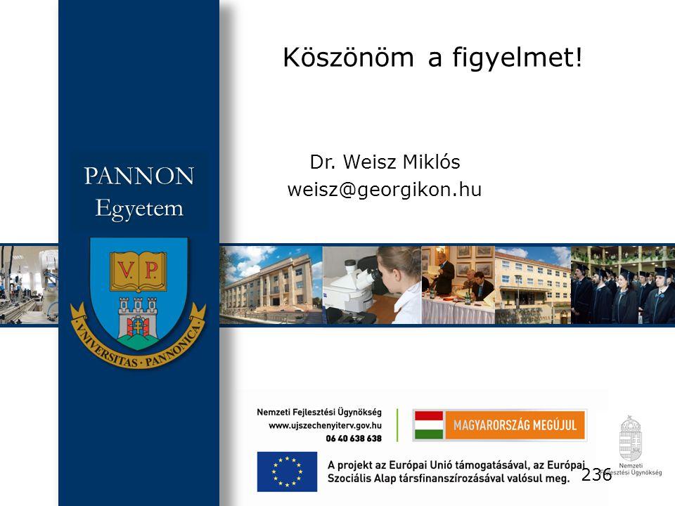 Dr. Weisz Miklós weisz@georgikon.hu