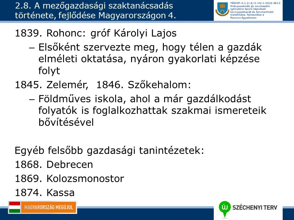 1839. Rohonc: gróf Károlyi Lajos