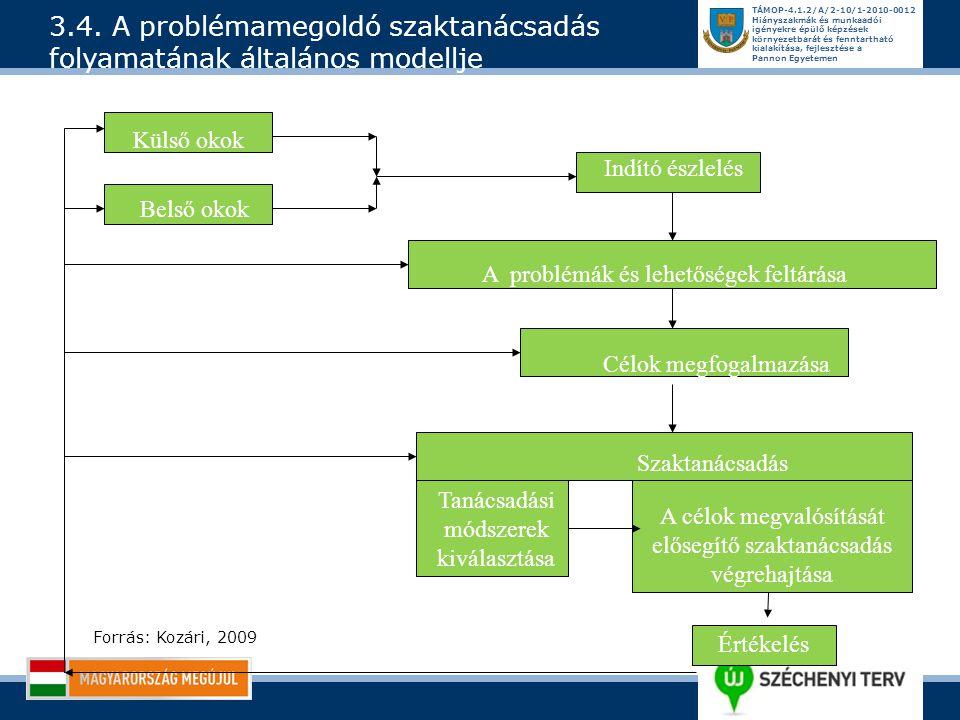 3.4. A problémamegoldó szaktanácsadás folyamatának általános modellje