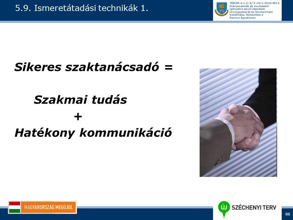 5.9. Ismeretátadási technikák 1.