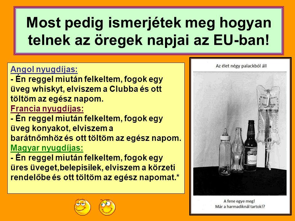 Most pedig ismerjétek meg hogyan telnek az öregek napjai az EU-ban!