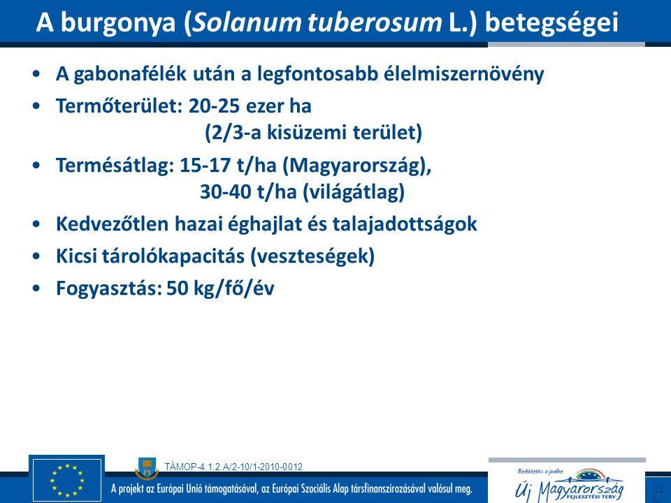 A burgonya (Solanum tuberosum L.) betegségei