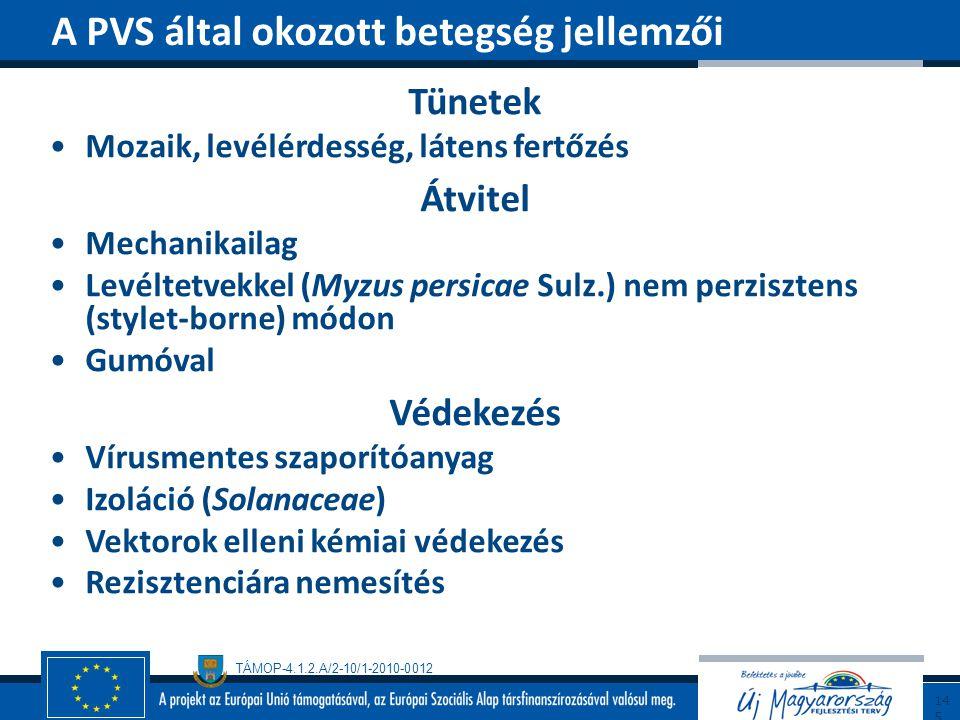 A PVS által okozott betegség jellemzői