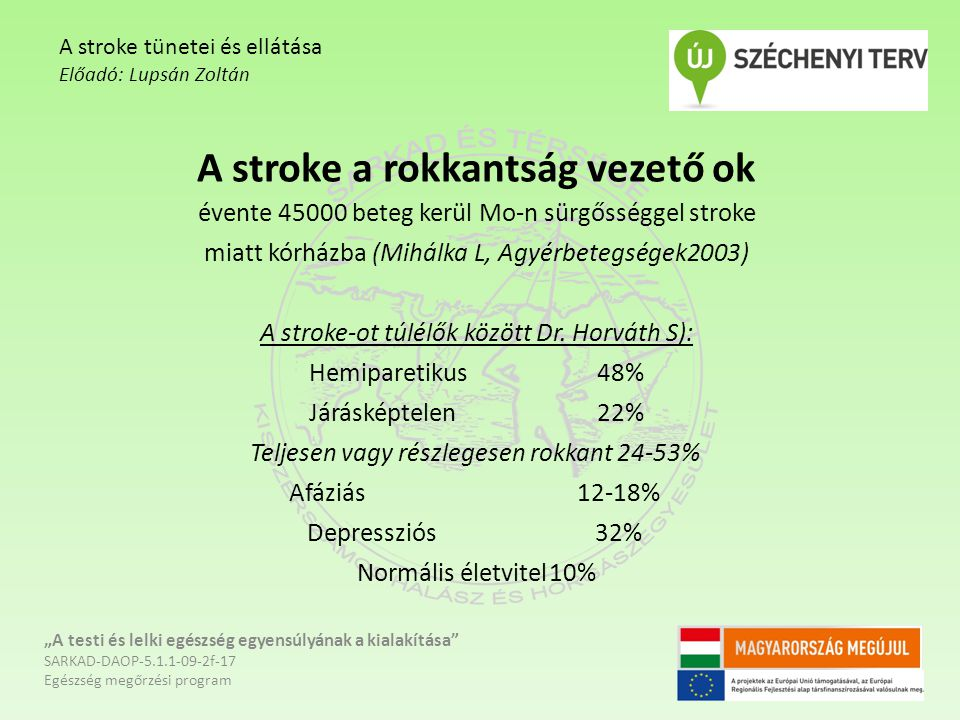 A stroke tünetei és ellátása