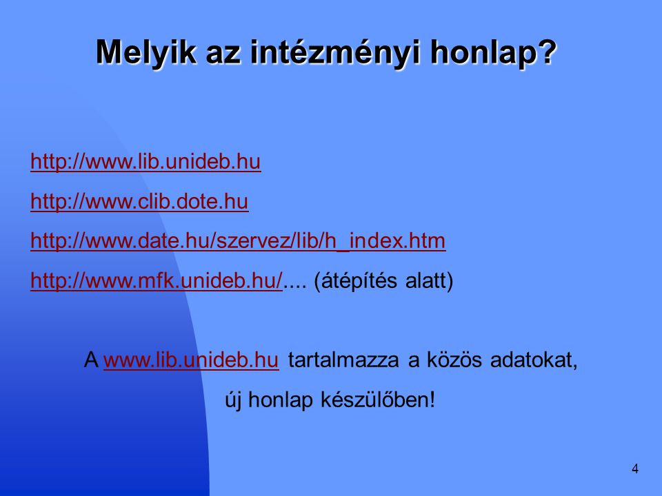 Melyik az intézményi honlap