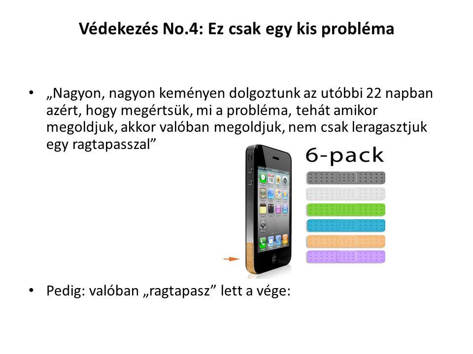 Védekezés No.4: Ez csak egy kis probléma