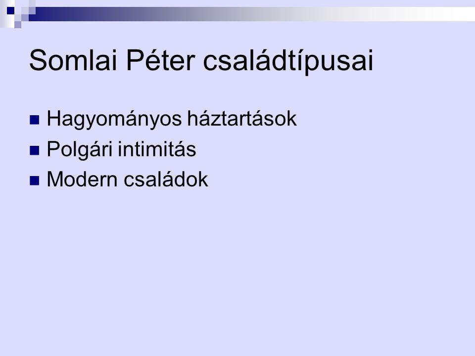 Somlai Péter családtípusai