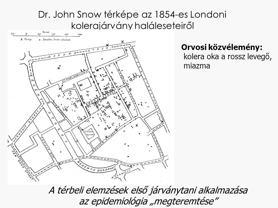 Dr. John Snow térképe az 1854-es Londoni kolerajárvány haláleseteiről