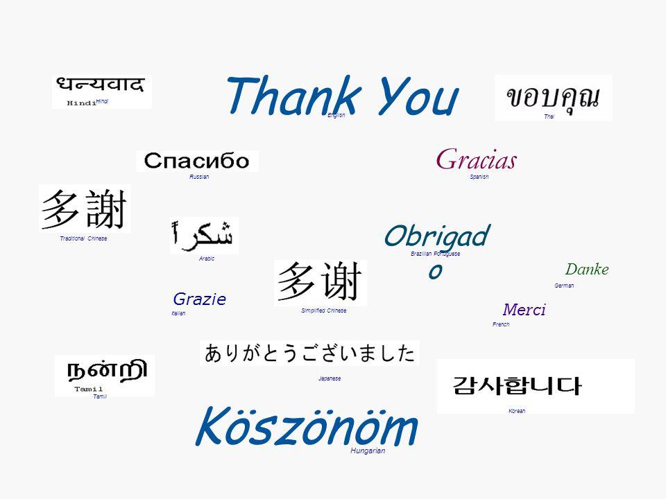 Thank You Köszönöm Gracias Obrigado Danke Grazie Merci Hungarian Hindi