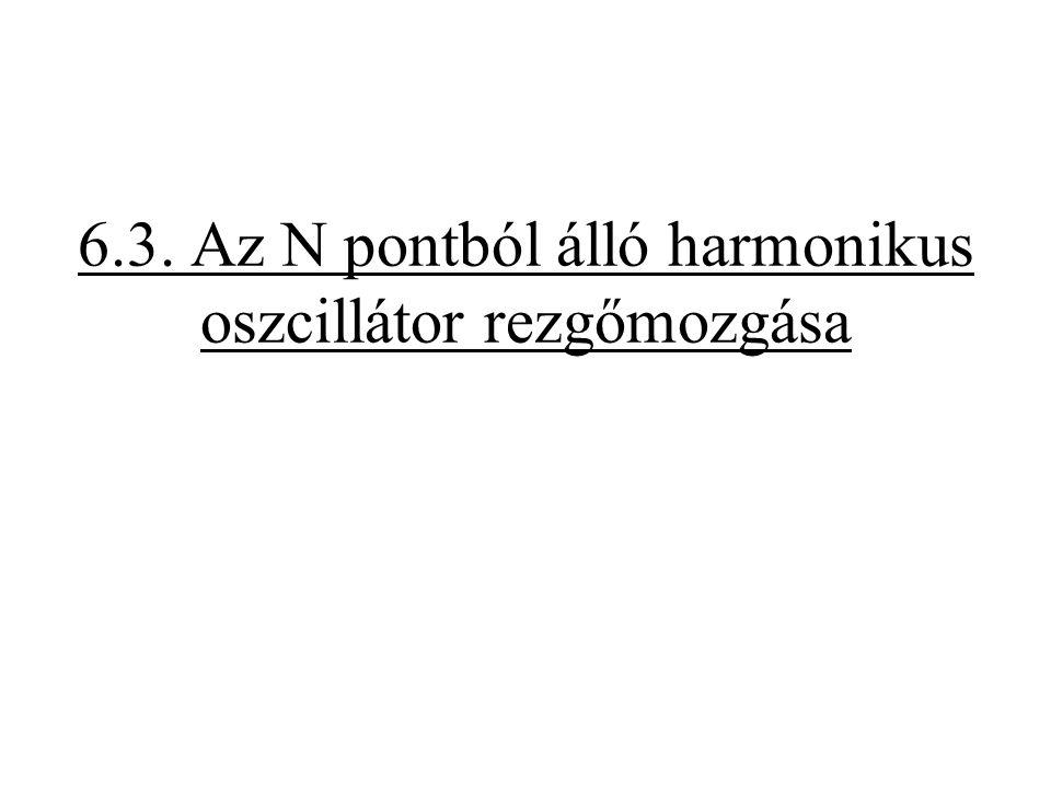 6.3. Az N pontból álló harmonikus oszcillátor rezgőmozgása