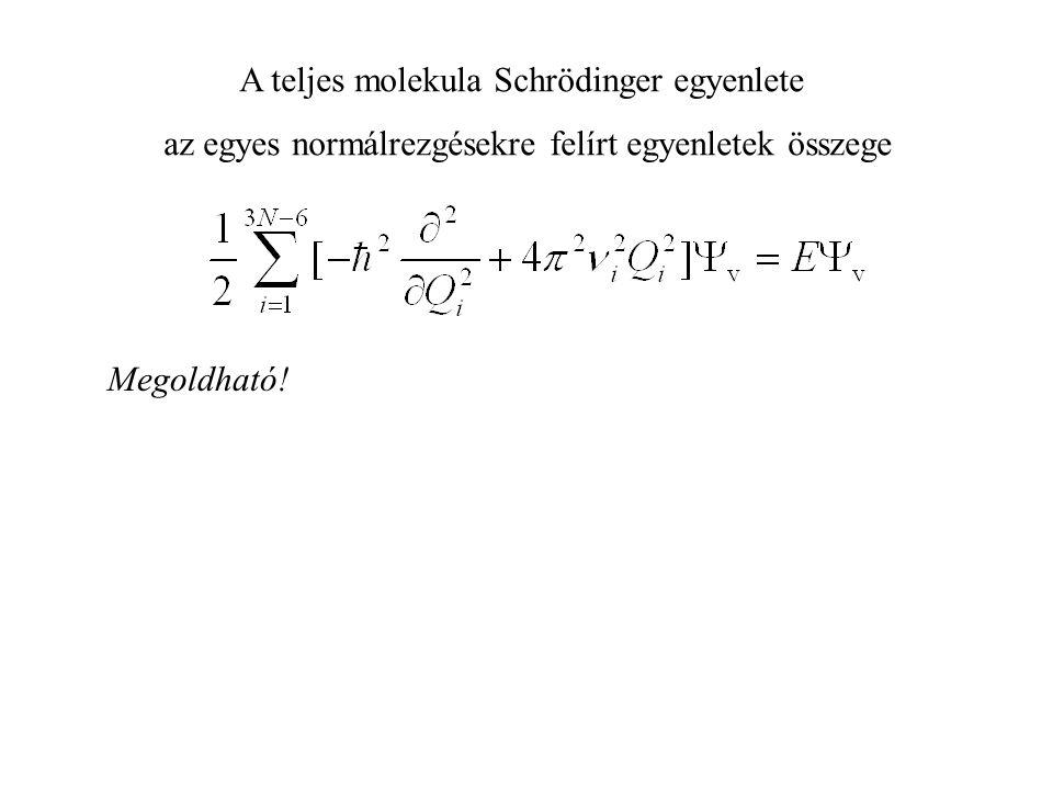 A teljes molekula Schrödinger egyenlete