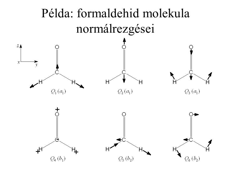 Példa: formaldehid molekula normálrezgései