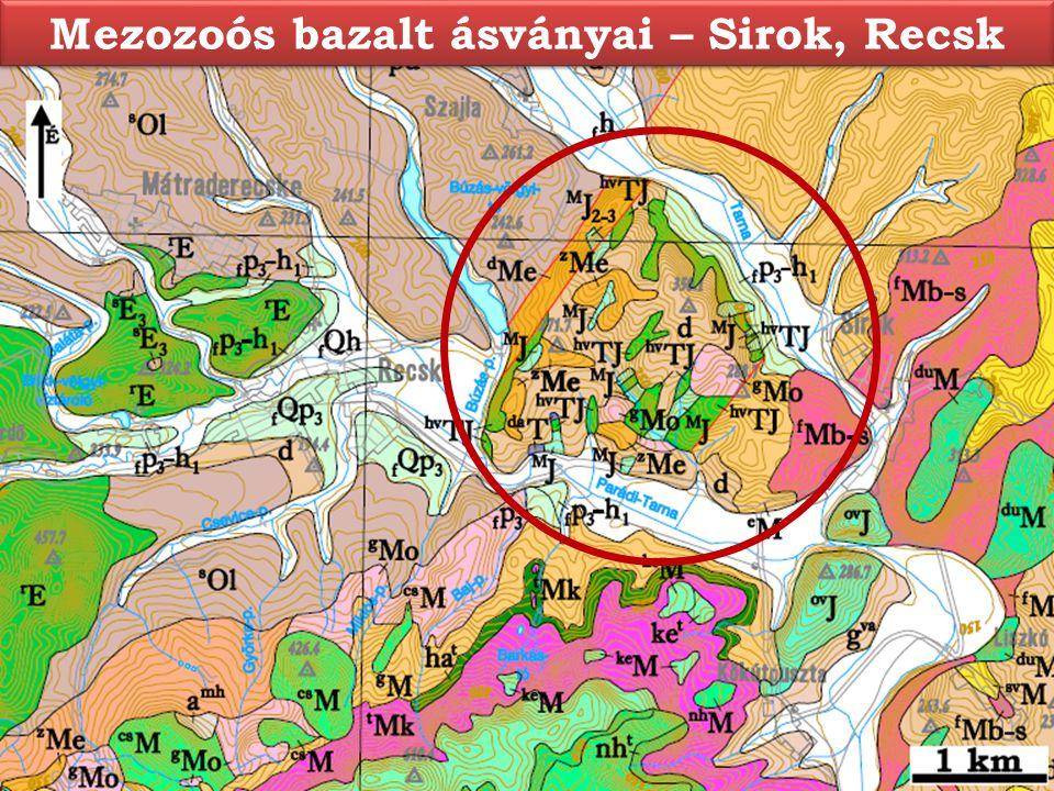 Mezozoós bazalt ásványai – Sirok, Recsk