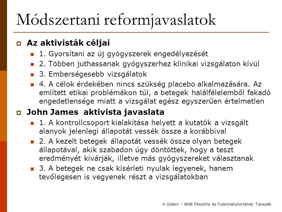Módszertani reformjavaslatok