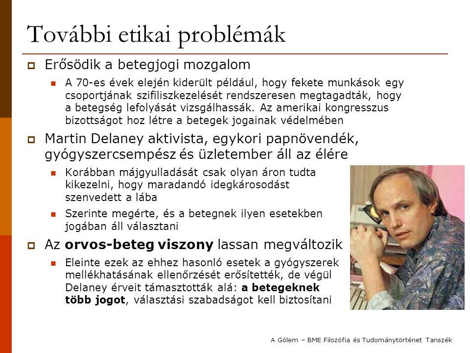 További etikai problémák