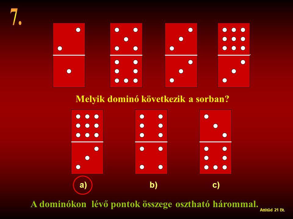 7. Melyik dominó következik a sorban