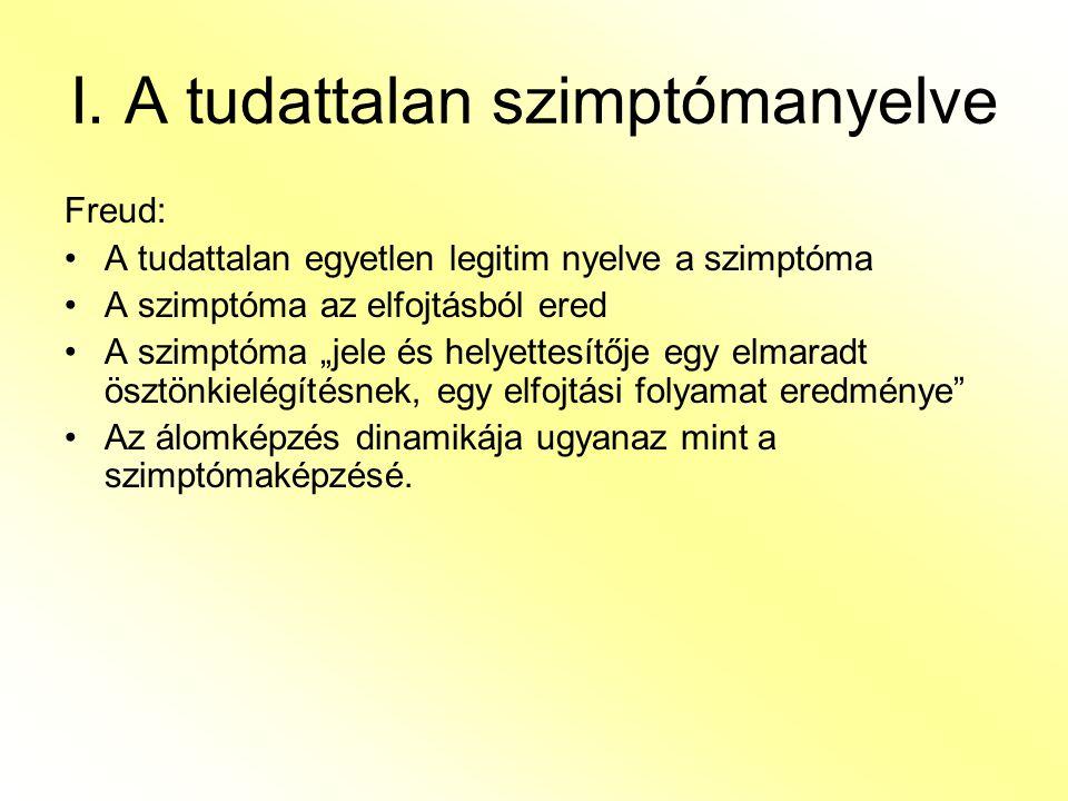 I. A tudattalan szimptómanyelve